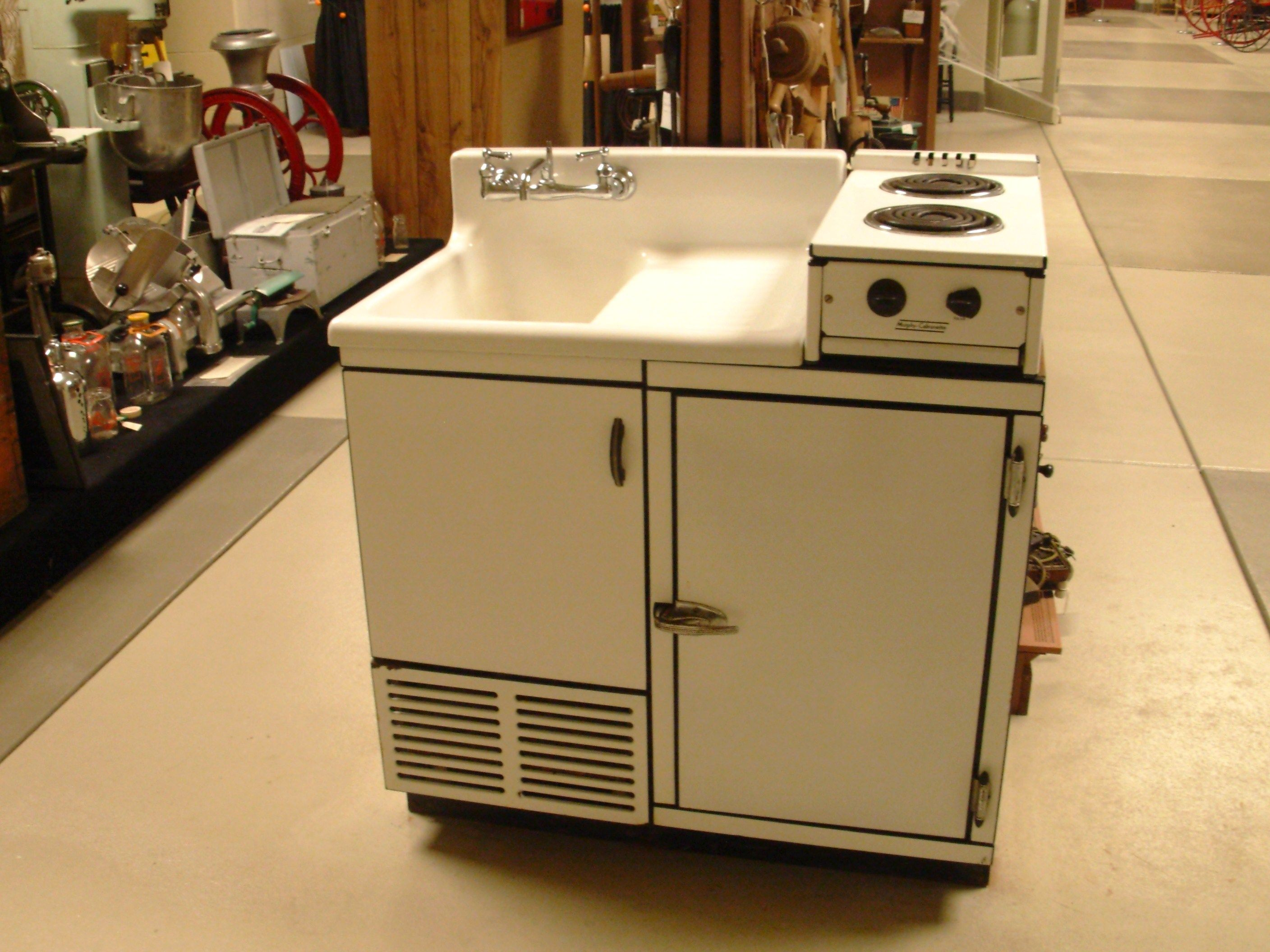 Dwyer SinkStove. I Love This Piece   It Has A Sink, Icebox, And 2 Burner  Electric Stove Top Combined Into One Tiny Unit.