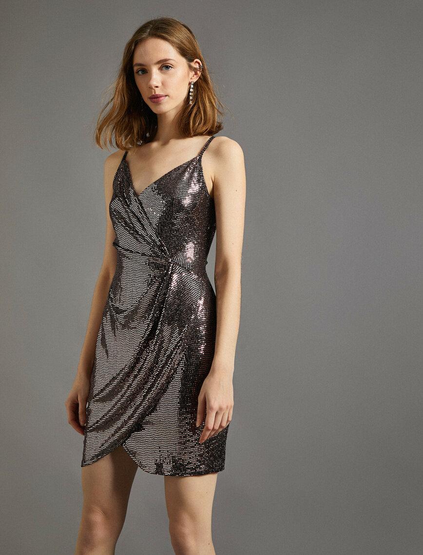 Pul Detayli Elbise 2020 Elbise Midi Elbise The Dress