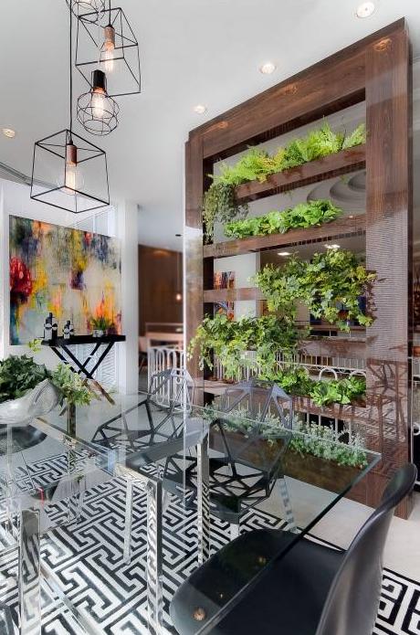 Como separar las áreas de tu hogar, ¡Sin paredes! (con imágenes) |  Decoracion de comedores modernos, Diseño de jardines interiores, Diseño de  interiores salas