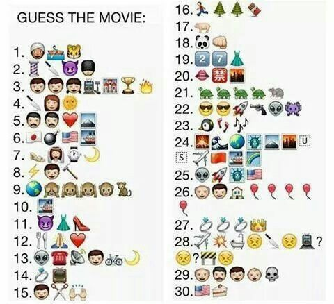 Can You Guess Them All Emoji Quiz Guess The Movie Guess The Emoji