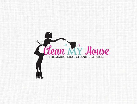 Maid Logo Design Clean House Service Logo Logos Pinterest