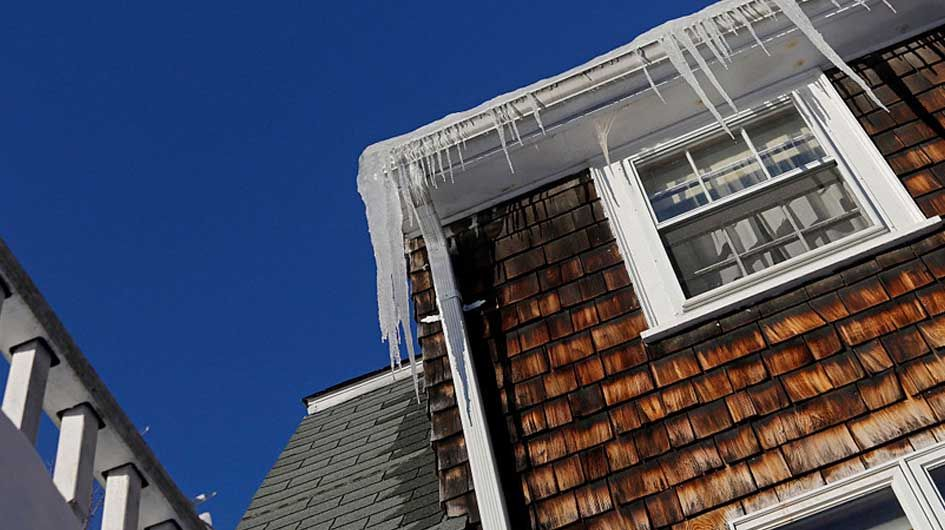 Ice Dams Snow On Your Roof And Attic Condensation State Farm Ice Dams State Farm Leaking Roof