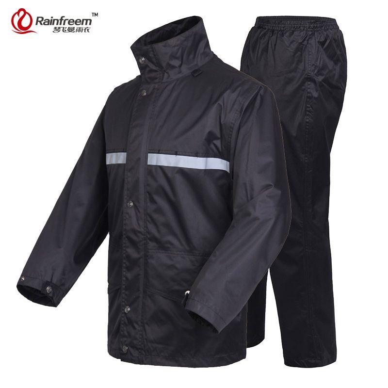 Rainfreem Brand Impermeable Raincoat Women/Men Jacket Pants Set ...