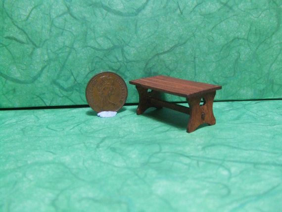 Quarter Scale,Tudor Table,1/48th Scale,Table, 1/4 Inch Scale, Medieval, Castle, Dining room,Gothic,Spooky,Haunted,Witch, Wizard,QS,Dollhouse