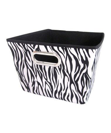 Black And White Zebra Print Large Storage Bin  ↞u2022ฟ̮̭̾͠ª̭̳̖ʟ̀̊ҝ̪̈_ᵒ͈͌ꏢ̇_τ́̅ʜ̠͎೯̬̬̋͂_W͔̏i̊꒒̳̈Ꮷ̻̤̀́_ś͈͌i͚̍ᗠ̲̣̰ও͛́u2022↠