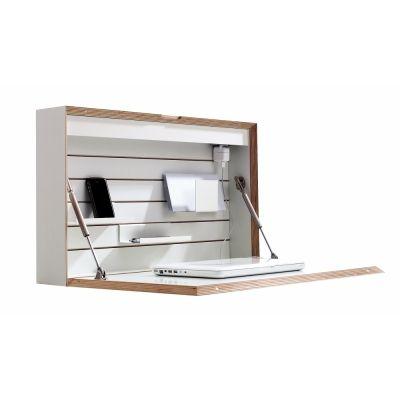 Flatbox Wandsekretär CPL Weiß mit Birkenkante   Neues Zuhause ...