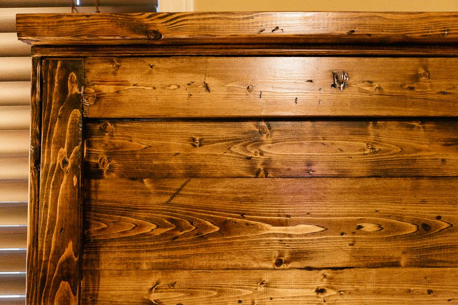 Minwax Dark Walnut Stain Over Distressed And Torched