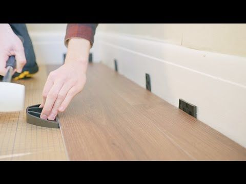 How To Fit Luxury Vinyl Click Flooring YouTube Flooring - Vinyl flooring youtube