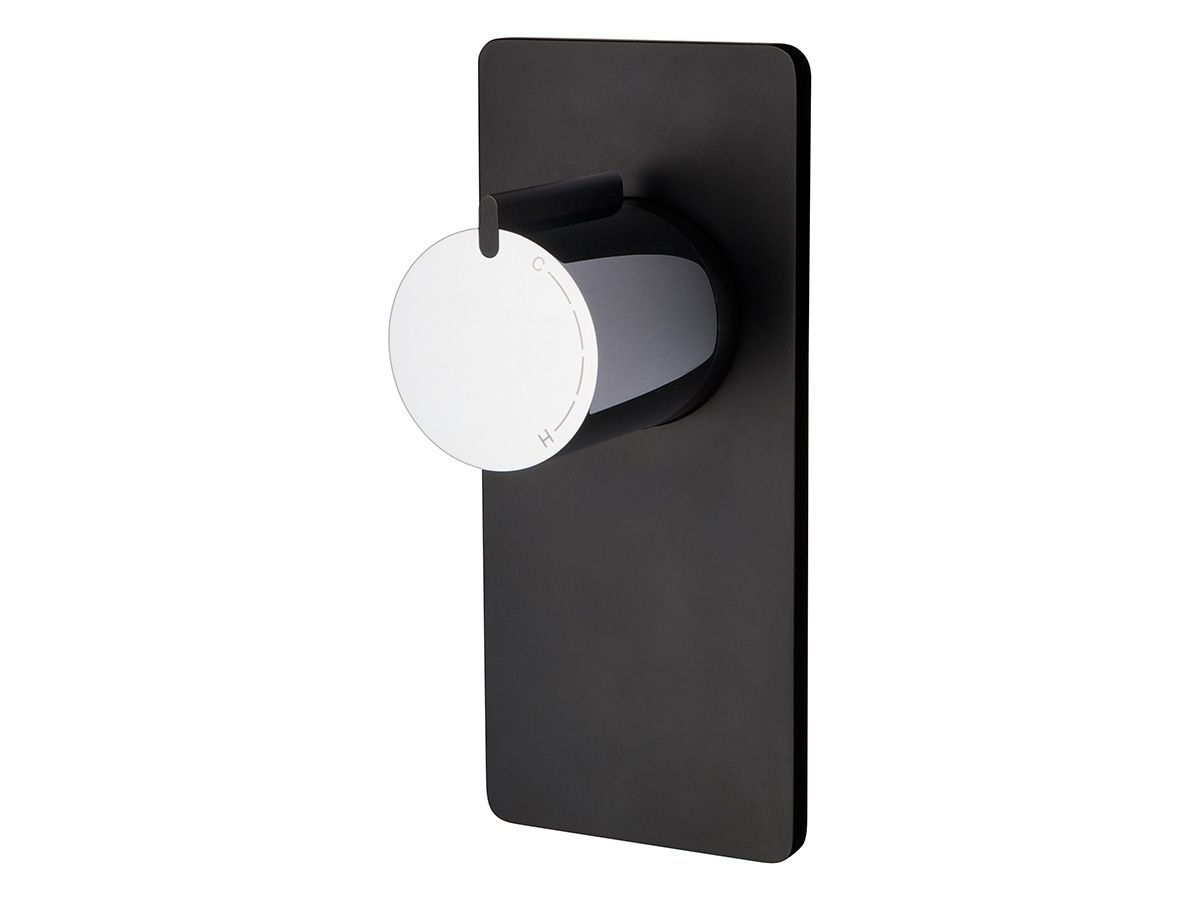 The milli glance wall basin mixer set is captivating from the first - Milli Axon Shower Mixer Black Backplate From Reece