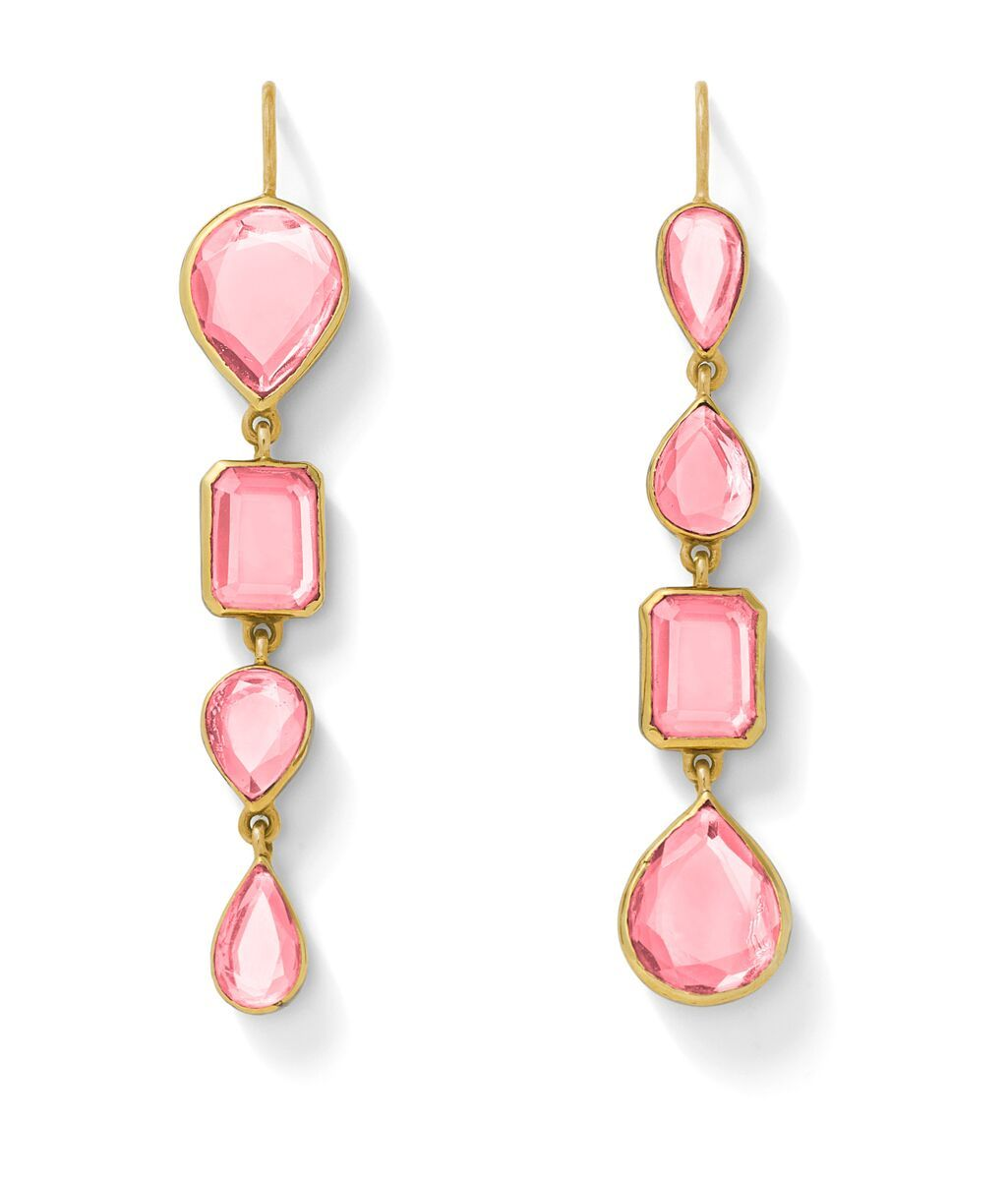 Light Pink Topaz Drop Earrings