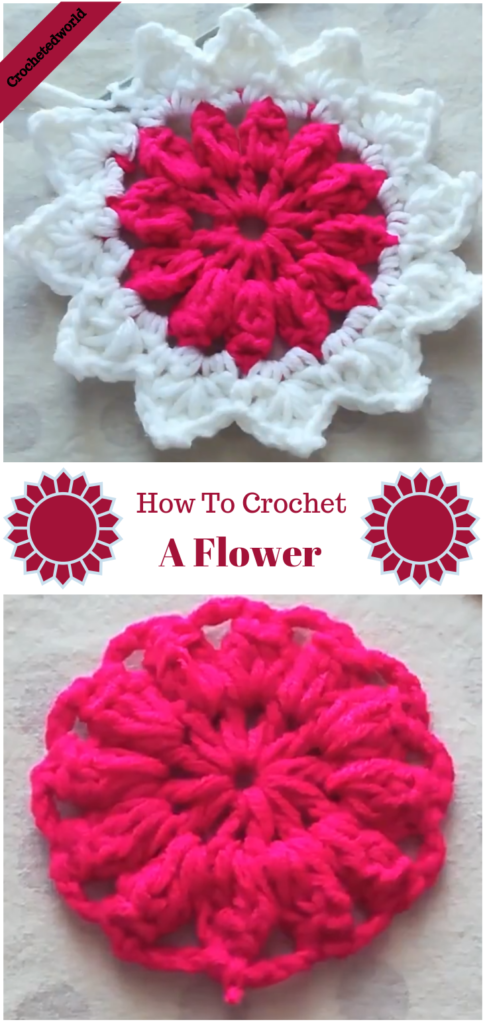 How To Crochet A Flower | CROCHET coasters | Pinterest | Häkelmuster ...