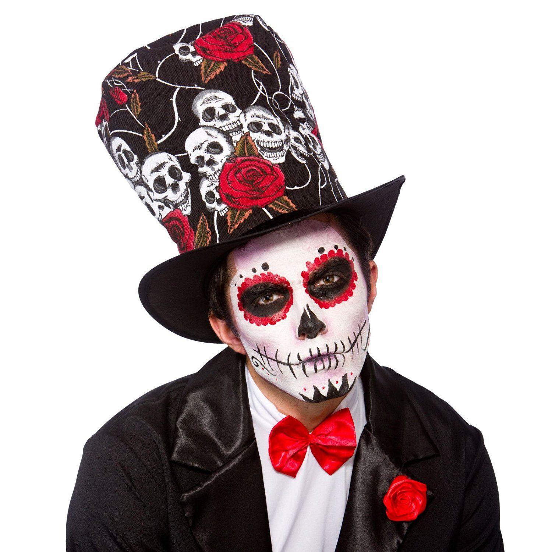 Sombrero de Día de los muertos para adultos de Halloween  Amazon.es  Ropa y… dc977da77ce