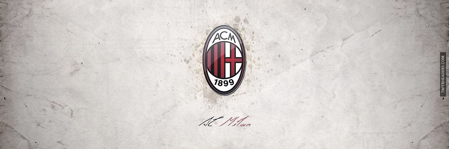 ac milan rossoneri twitter header cover. Black Bedroom Furniture Sets. Home Design Ideas
