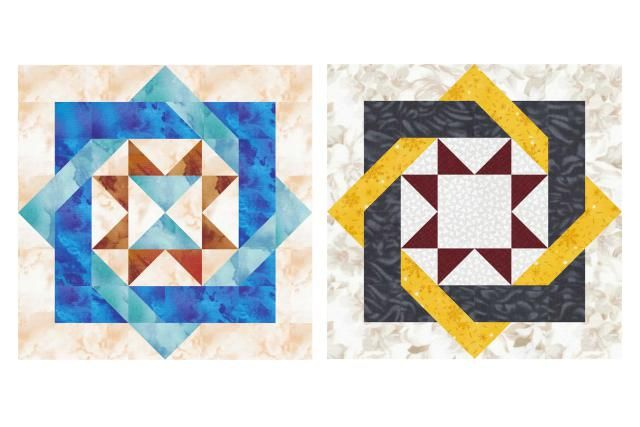 Make A Star Version Of The Labyrinth Quilt Block
