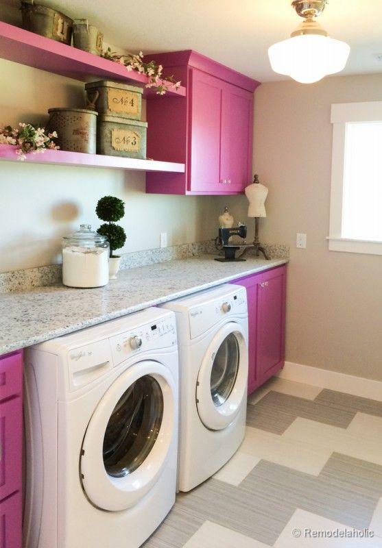 100 inspiring laundry room ideas open shelving laundry for Open laundry room ideas