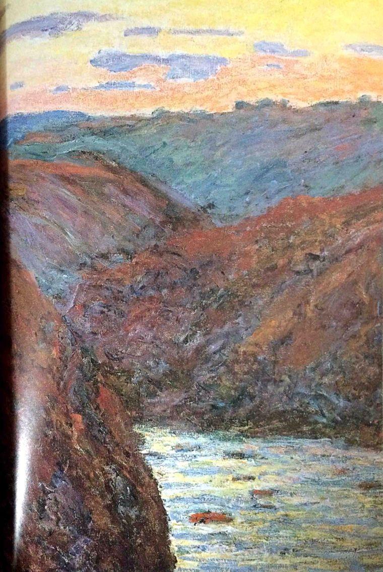 크뢰즈 강의 석양1889