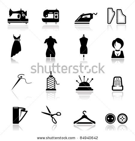 d3adc9b7c stock vector   Icons set Sewing and fashion Desenhos