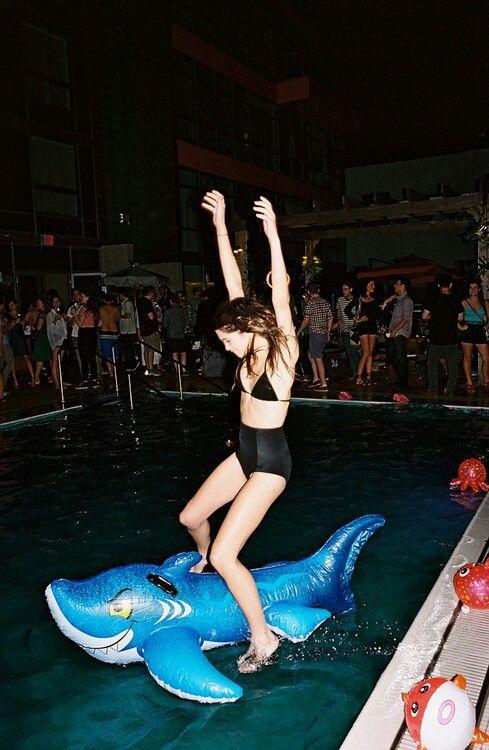 Teen wild pool party