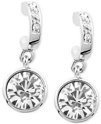 a829f2367 Givenchy Earrings, Silver-Tone Swarovski Crystal Drop Earrings - Fashion  Jewelry - Jewelry & Watches - Macy's