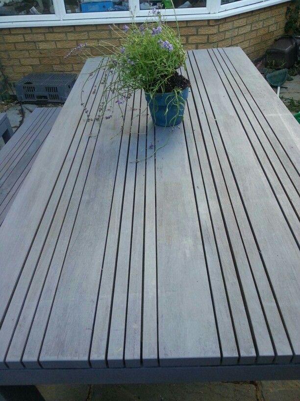 Teak Garden Furniture In Cuprinol Silver Birch Elements