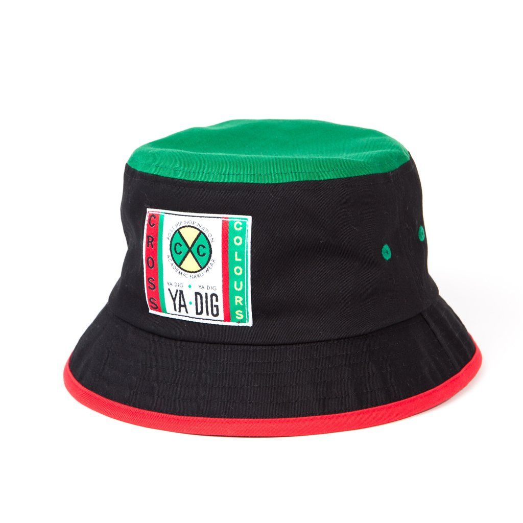 8aa8286d7 Original Cross Colours color block bucket hat with large woven label ...