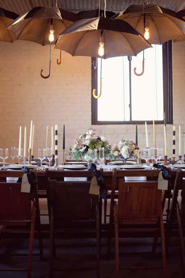 Whimsical Rustic Industrial Black & White Wedding Inspired