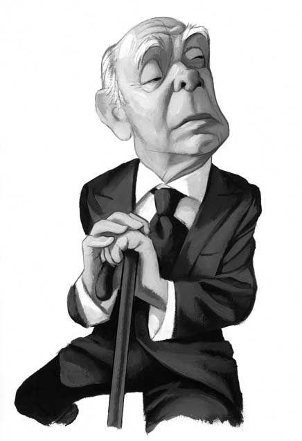 Fernando Vicente Retratos Borges 2 Jorge Luis Borges Jose Luis Borges Borges