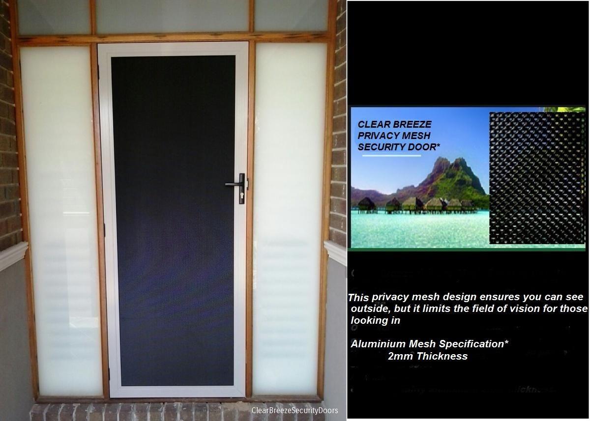 Clear Breeze Privacy Mesh Security Door