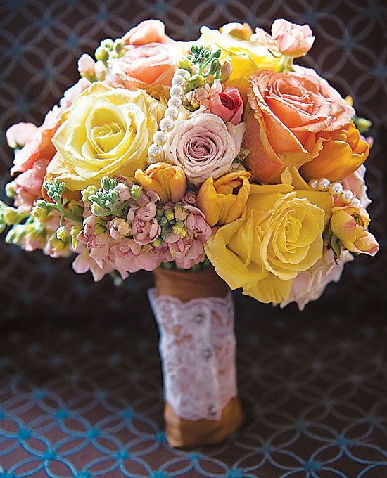 Brides How Much Do Wedding Bouquets Cost Bouquet Of Skyline Roses Quicksand Versilia Stock Ranunculuses And Tulips With Pearls 175