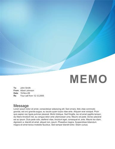 Corporate Blue Waves Memorandum Templates In Word Pinterest