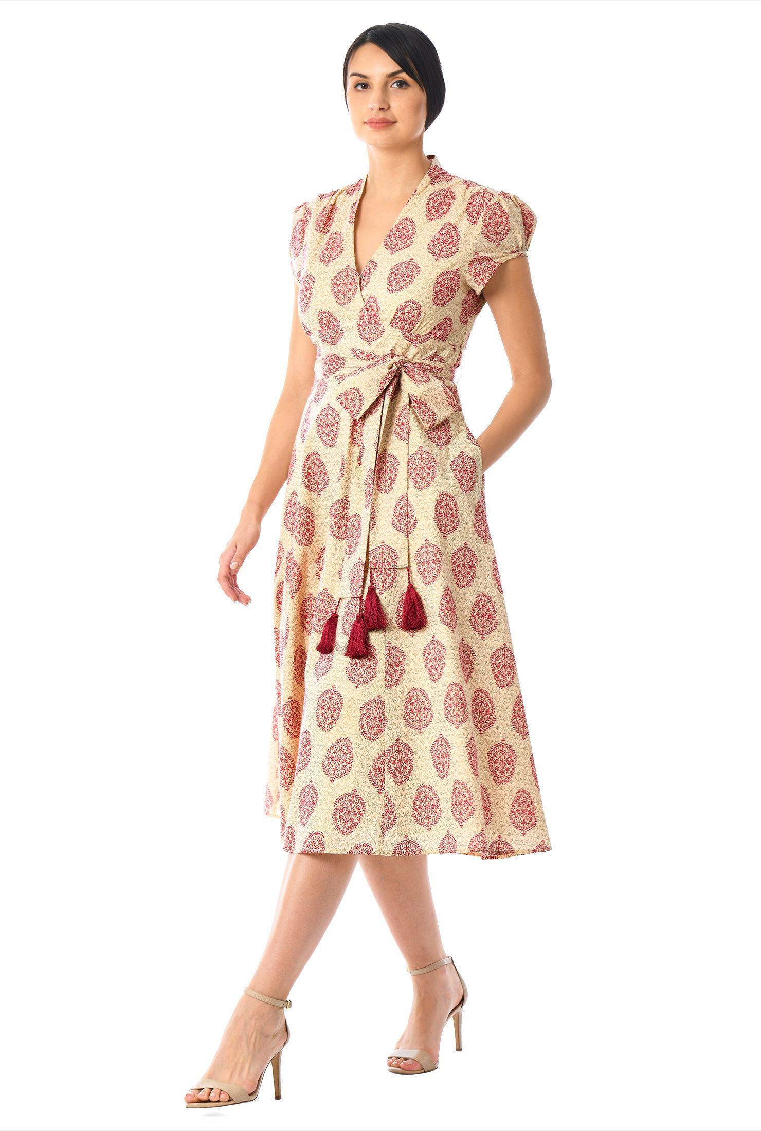 7a759ed1b1 Women's Fashion Clothing 0-36W and Custom Bridesmaid Dresses Online,  Paisley Print, Cotton