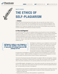 outline about plagiarism research paper