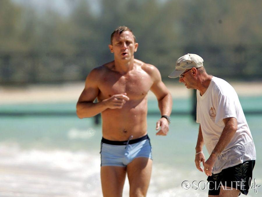 d0342585ce Daniel Craig Films 'Casino Royale' Wearing Iconic Bathing Suit ...