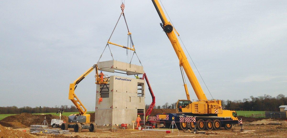 Prefastcore modules are delivered to site on a just in