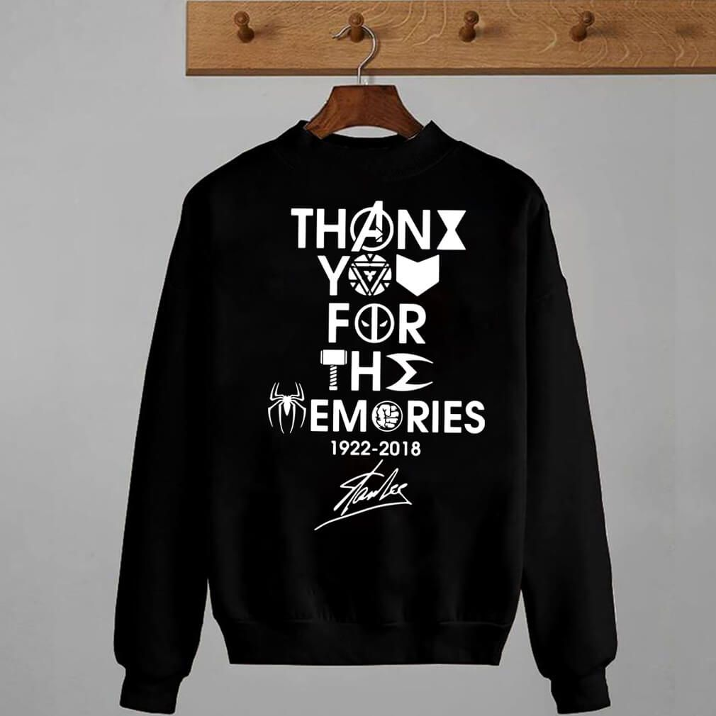 e313470a Thank You For The Memories 1922-2018 Stan Lee T shirt Hoodie ...