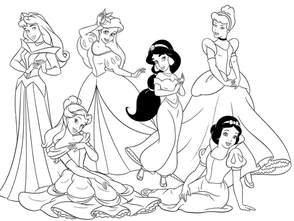 Disegni Da Colorare Principesse E Stampare Con Immagini