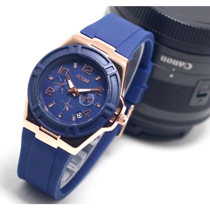 Jam Tangan Guess Terbaru Ruber Sk970sn Untuk Cewek Jam Tangan Wanita Jam Tangan Warna