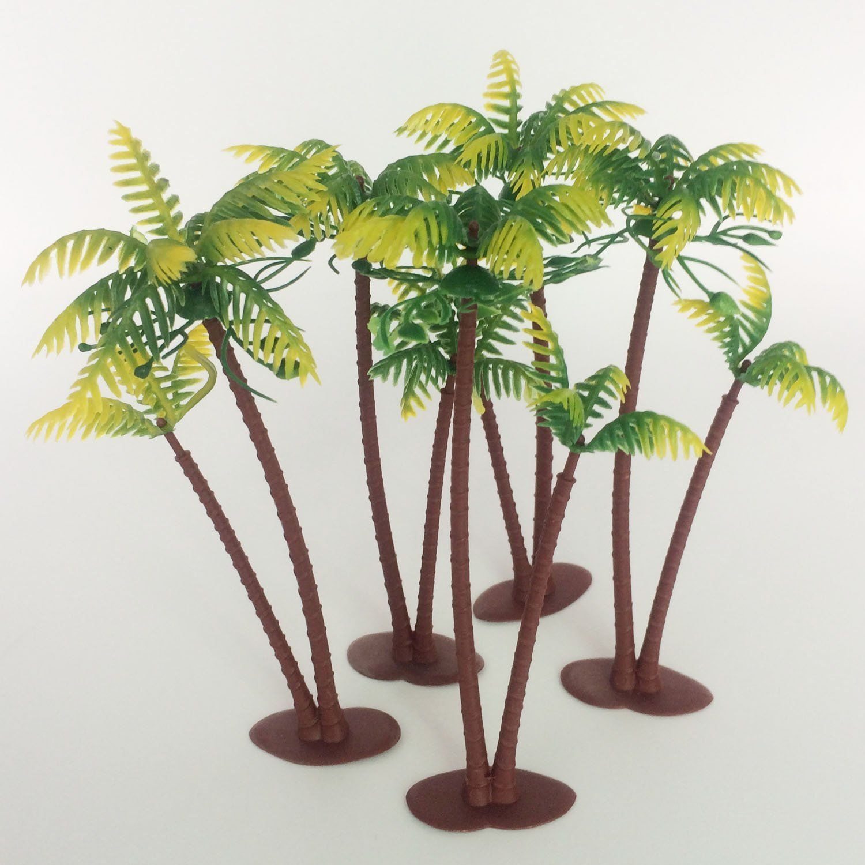Smashing Height Lot Coconut Palm Palms Twin Coconut Tree Trees Miniature Garden Bonsai Trees Miniature Fairy Garden Trees garden Miniature Garden Trees