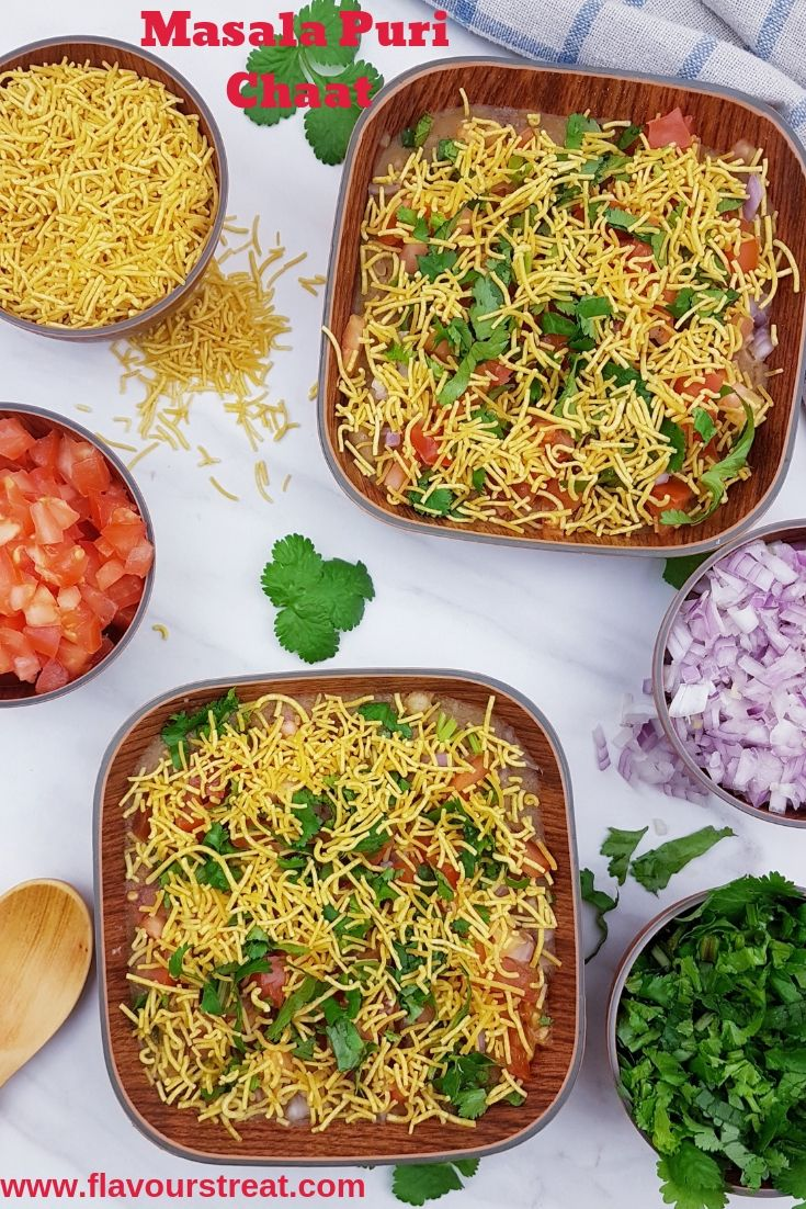 Masala Puri Chaat is most fascinating street side snack