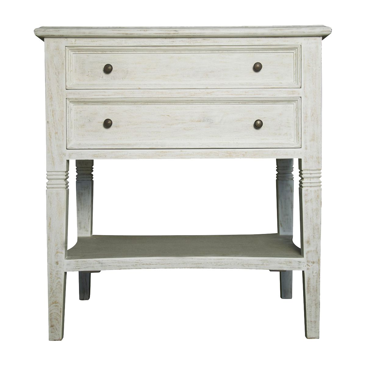 Noir Oxford  Drawer Side Table White Wash GTABWH  Noir