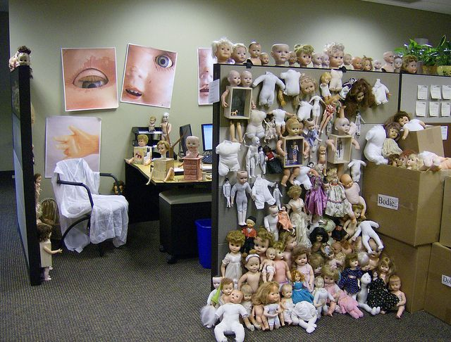 Doll Cubicle Halloween Cubicle Office Halloween Decorations