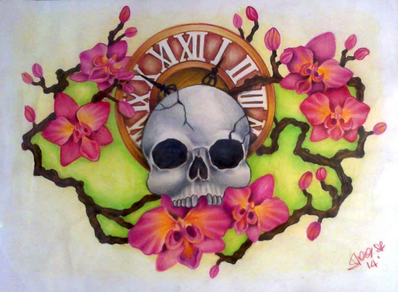 Drawing design tattoo artist arts art blog blogging skull