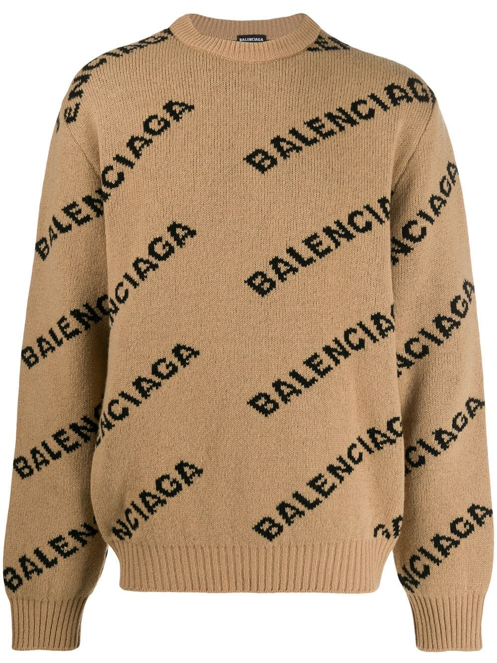 Balenciaga Logo Intarsia Jumper Farfetch Balenciaga Clothing Balenciaga Jumper Wool Blend Sweater [ 1334 x 1000 Pixel ]