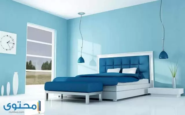 اجمل دهانات غرف النوم Blue Bedroom Soothing Bedroom Colors Blue Accent Walls
