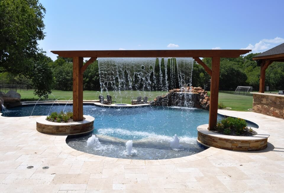 View Custom Outdoor Trends Pools And Spas Photo Gallery Showcasing Custom Pool Remodel Dallas Set Design