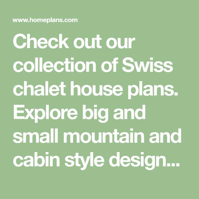 Swiss Chalet Home Plans & Blueprints