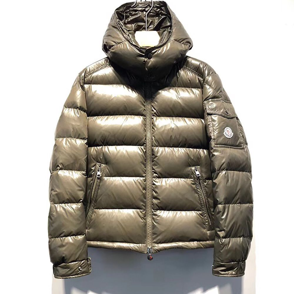 Moncler Maya Padded Puffer Jacket In Olive Green Moncler Woolrich Puffer Coat [ 1000 x 1000 Pixel ]