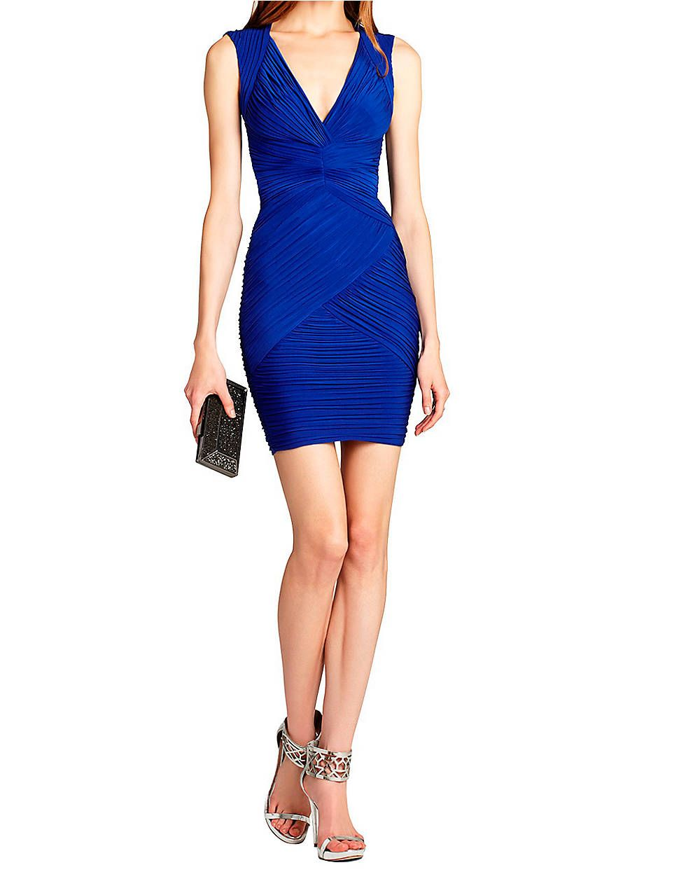 BCBGMAXAZRIA Edesa Shirred Cocktail Dress $298 | Lord and Taylor
