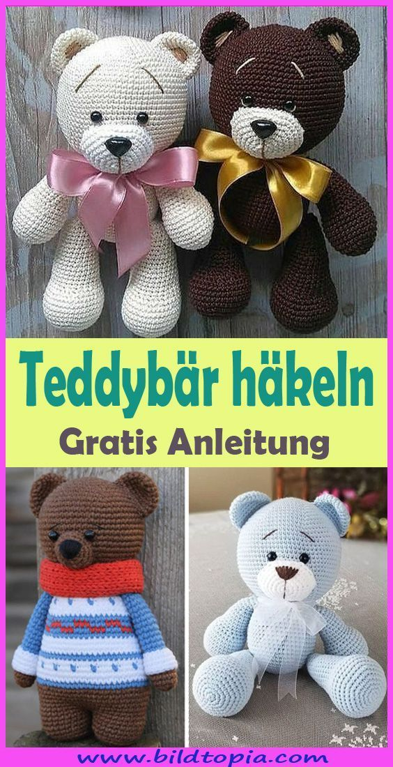 Photo of Crochet Amigurumi Teddy Bear – Free & Easy – Children's Cake Diy Cardboard
