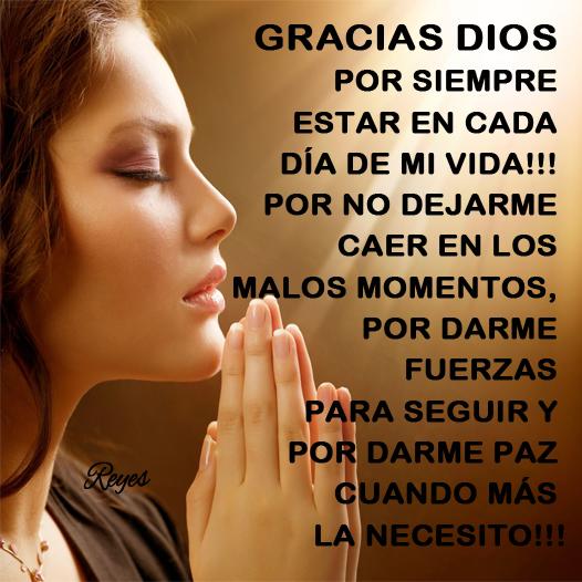 Imágenes Frases Y Reflexiones Gracias Dios Gracias Dios